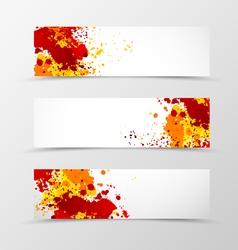 Set of header banner digital design vector