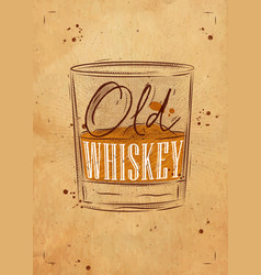 poster old whiskey craft vector image