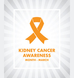 Kidney cancer awareness vector