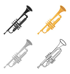 Trumpet icon in cartoon style isolated on white vector