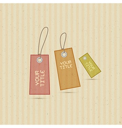 Labels tags on recycled paper background vector