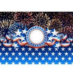 Patriotic background with fireworks vector