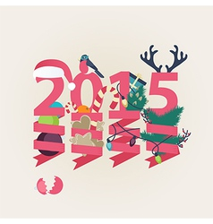 2015 New Year card design vector image