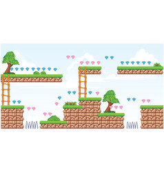 2d tileset platform game 2 vector