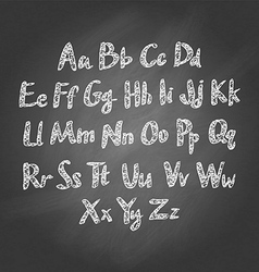 Chalk sketched characters blackboard background vector