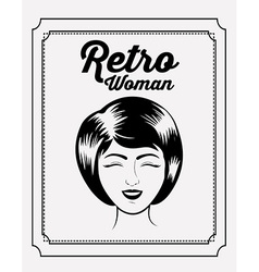 Retro woman design vector