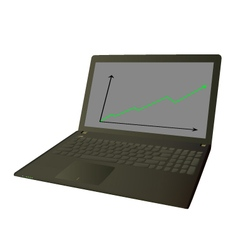 Working on laptop computer vector