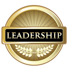 Leadership gold label vector