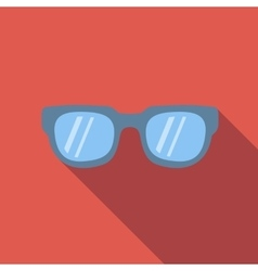 Sunglasses colored flat icon vector