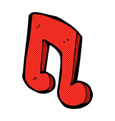 Comic cartoon musical note vector