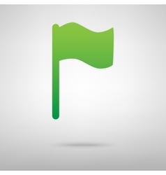Flag sign green icon vector