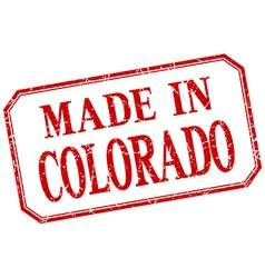 Colorado - made in red vintage isolated label vector