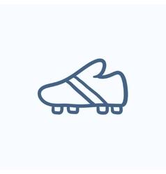 Football boot sketch icon vector