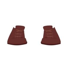 Brown boots cartoon vector image