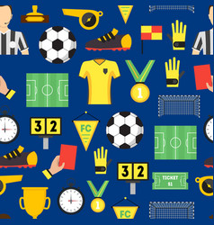 cartoon soccer sport game background pattern vector image vector image