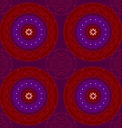 circle pattern indian red vector image vector image