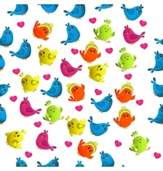 cute colorful bird vector image vector image