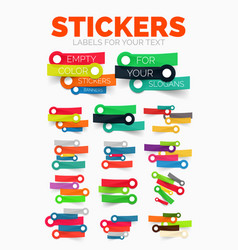 Design elements set of colour paper sticker vector