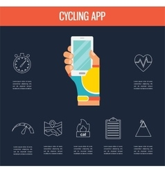 gps computers and apps for bike and cycling vector image