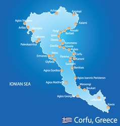 Island of Corfu in Greece vector image vector image