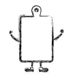 Kitchen board wooden kawai character vector