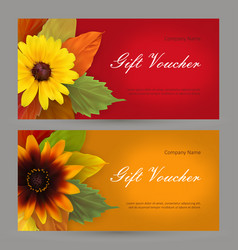 set autumn horizontal gift elements of corporate vector image