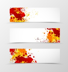 Set of header banner digital design vector