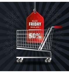 Shopping black friday day discounts vector image