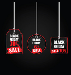 tag of balck friday with best offer on it color vector image vector image