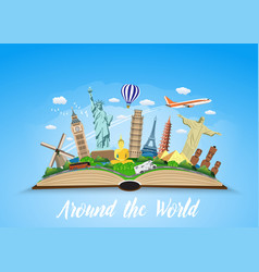Travel to world road trip vector