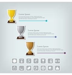 Trophy Cups and award concept Champions or vector image