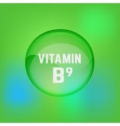 Vitamin B9 02 A vector image vector image