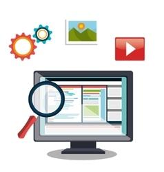 web design concept vector image