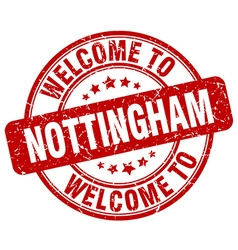 welcome to Nottingham vector image vector image