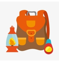 Lantern camping isolated icon vector