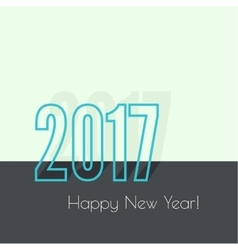 2017 happy new year vector