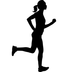 Woman running silhouette vector