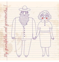 Elderly couple grandparents vector
