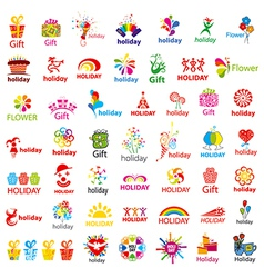 biggest collection of logos and holiday vector image