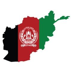Afghanistan Map Flag vector image