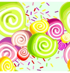 Colorful candies background vector