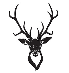 Deer head isolated vector image