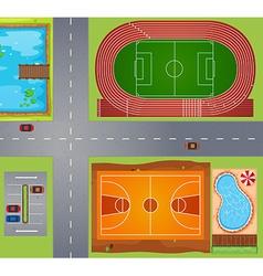 Sport area vector