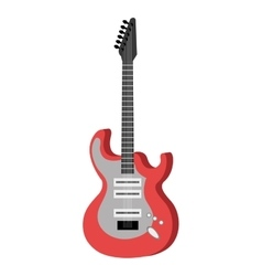 Electric guitar music instrument icon design vector