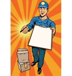 Courier delivery service mail and parcels vector