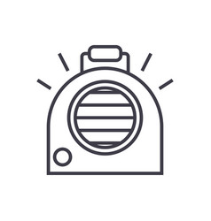 air conditioning portable heater line icon vector image