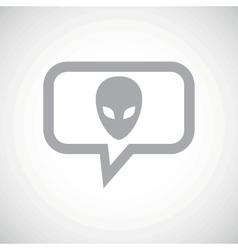 Alien grey message icon vector