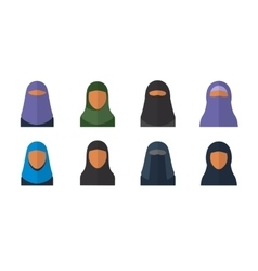 Arabic woman set vector image