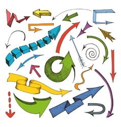 Arrows colored icon vector image vector image