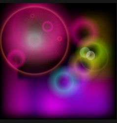 Bokeh blurred background with glare shine and glow vector